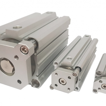 Compact guided cylinder(square tube)